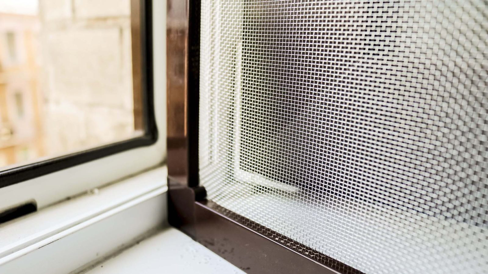 Металлическая москитная сетка на окна